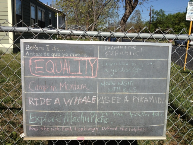 Before I Die sign, Tillery Street, Austin, TX  03.26.13